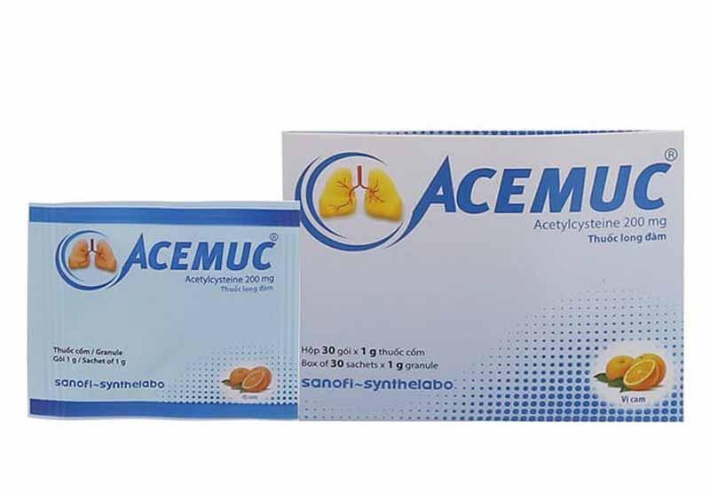 Acemuc là thuốc thuộc nhóm thuốc ho, cảm