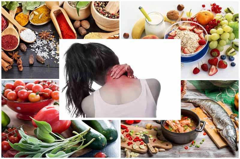 Chú ý chế độ dinh dưỡng trong điều trị đau vai gáy