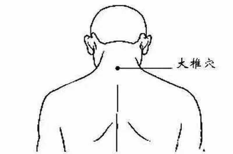 Xác định huyệt đại chùy trong bấm huyệt chữa đau vai gáy