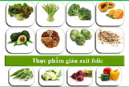 Acid folic có trong thực phẩm nào
