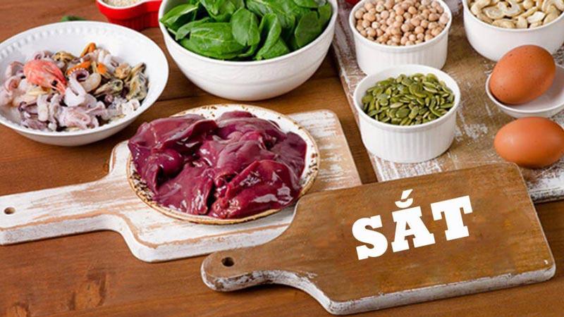 Bạn cần chú ý bổ sung đầy đủ các thực phẩm chứa sắt