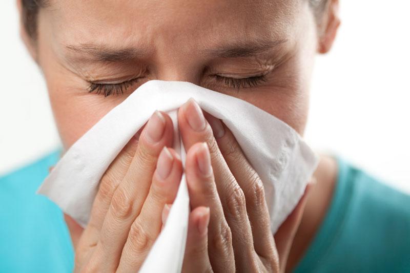 Hắt hơi, ho, đỏ mắt, nổi mề đay, ngứa là những triệu chứng dị ứng điển hình