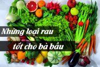 Những loại rau tốt cho bà bầu