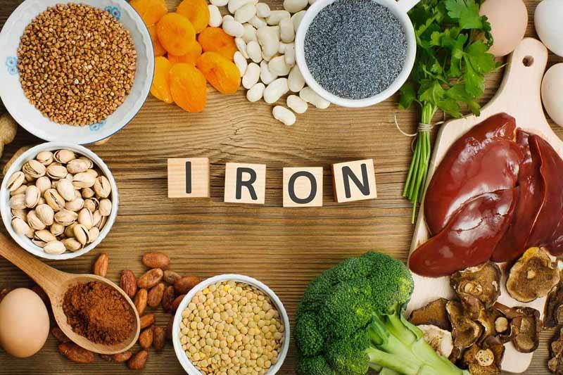 Sắt có nhiều trong các thực phẩm như thịt, hải sản, đậu
