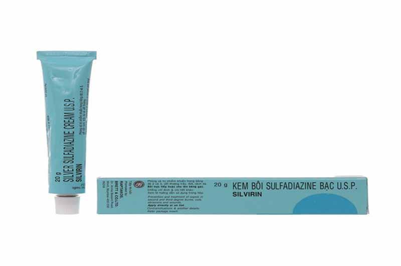 Bạc sulfadiazin là một kháng sinh bôi tại chỗ