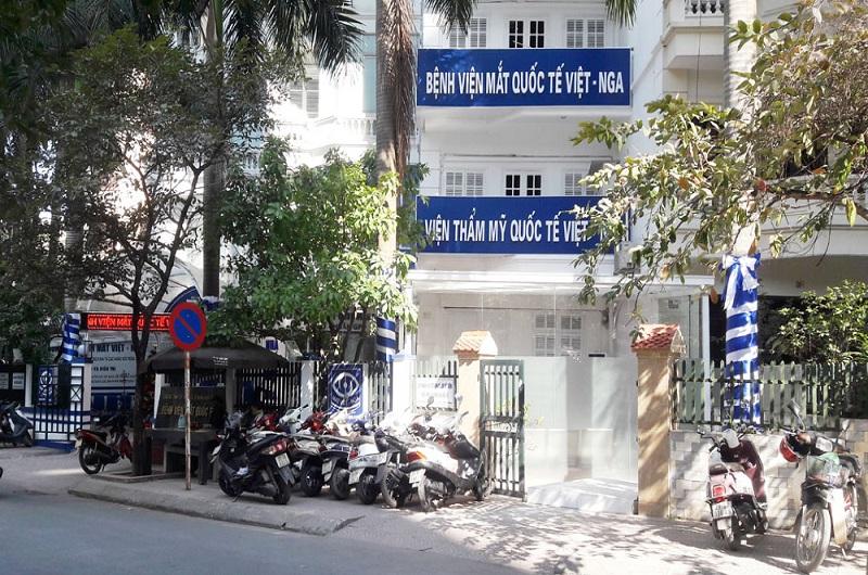 Bệnh viện Mắt Việt Nga tên đầy đủ là Bệnh viện Mắt Quốc tế Việt Nga