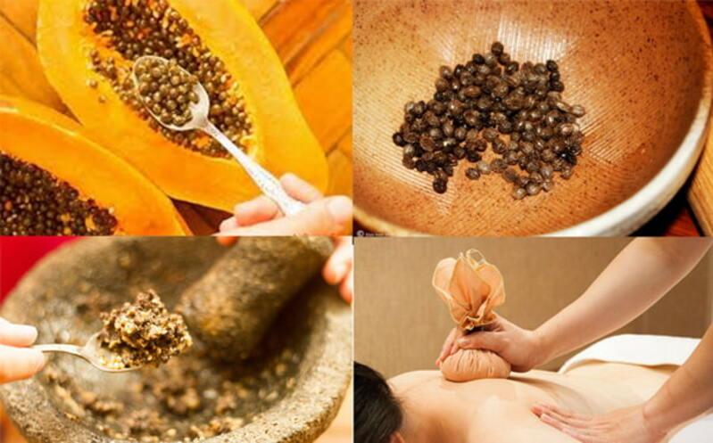 Bài thuốc chữa gai cột sống bằng hạt đu đủ