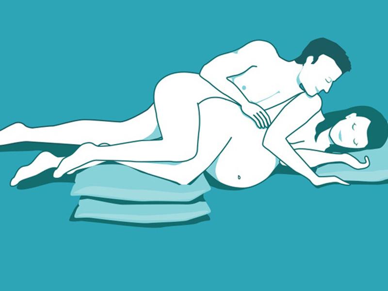 """Có thai 2 tuần quan hệ được không: Mọi người nên """"ân ái"""" với tư thế úp thìa"""
