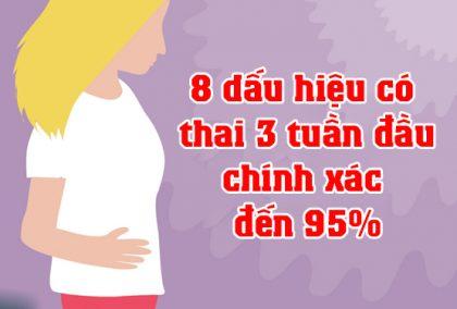 Dấu hiệu có thai 3 tuần