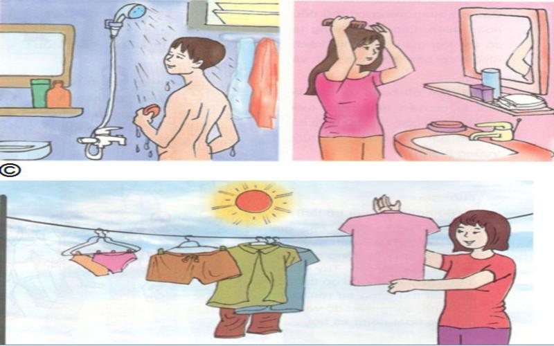 Tắm rửa, giặt giũ quần áo thường xuyên giúp ngăn ngừa nấm hắc lào