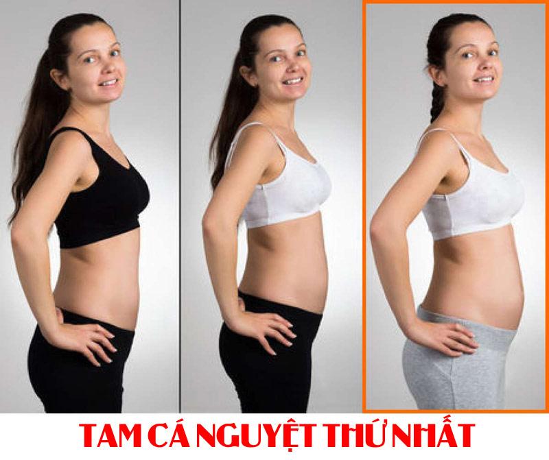 Mang thai 3 tháng đầu, bụng của mẹ bắt đầu lộ diện