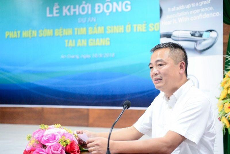 """PGS.TS Nguyễn Lân Hiếu tham gia dự án nhân đạo """"Phát hiện sớm bệnh tim bẩm sinh ở trẻ sơ sinh tại An Giang"""""""