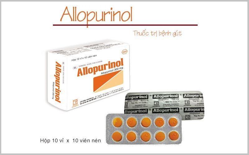 Thuốc điều trị gout Allopurinol giúp làm giảm nồng độ axit uric trong máu