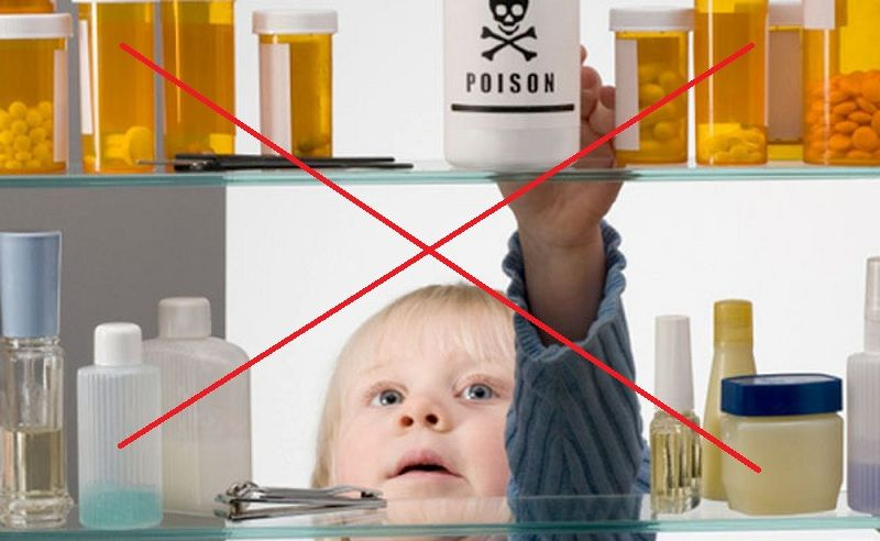 Tuyệt đối không được để thuốc ở trong tầm với của trẻ nhỏ