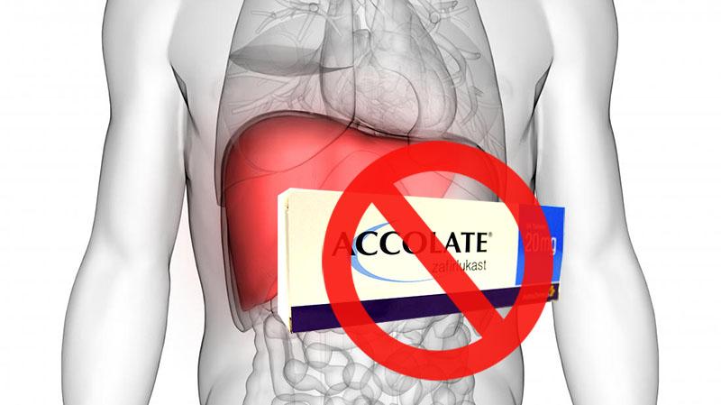 Không sử dụng zafirlukast nếu đang mắc bệnh về gan