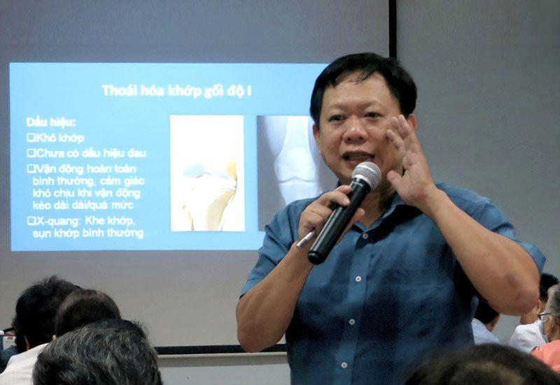 Bác sĩ Phan Vương Huy Đổng tư vấn về thoái hóa khớp gối