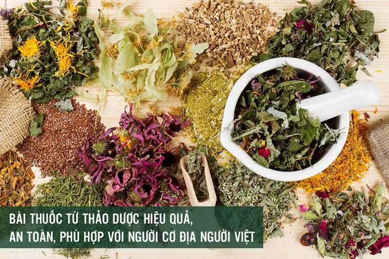 Các bài thuốc được bào chế từ thảo dược thiên nhiên sạch
