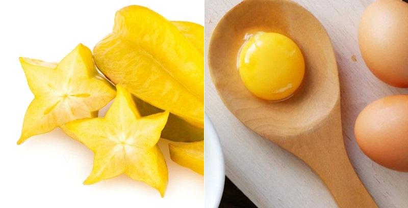 Bài thuốc với khế chua, trứng gàBài thuốc với khế chua, trứng gà