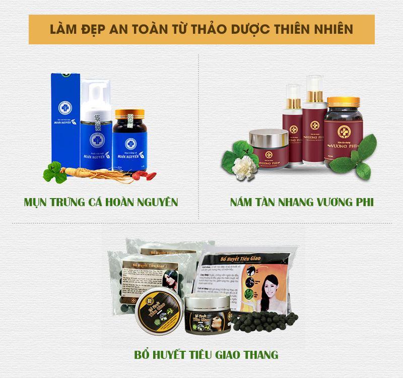 Những sản phẩm bán chạy nhất Trung tâm Da liễu Đông y