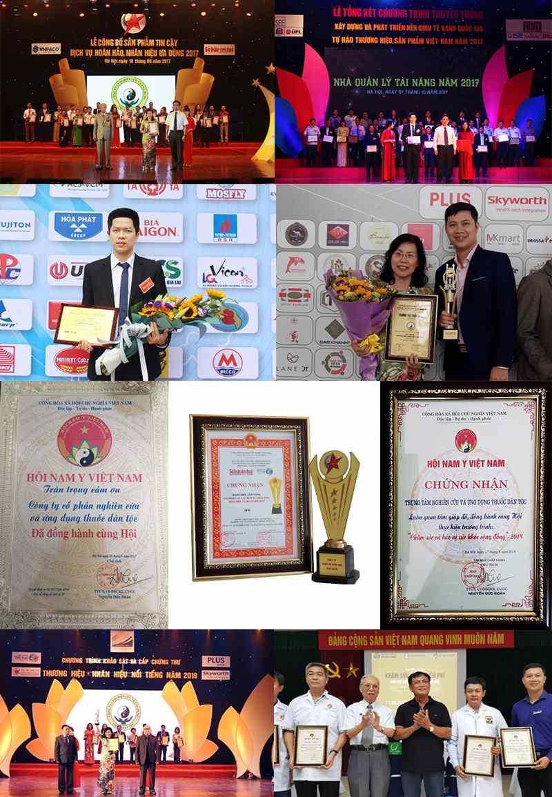 Những giải thưởng danh giá mà Thuốc dân tộc đã nhận được