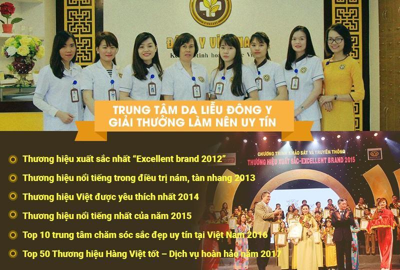 Trung tâm Da liễu Đông y Việt Nam cùng những giải thưởng làm nên uy tín