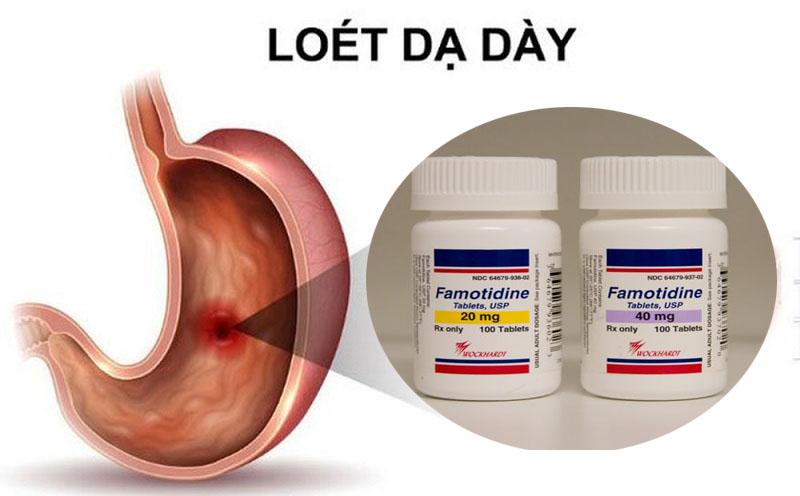 Liều dùng thuốc Famotidine cho người loét dạ dày