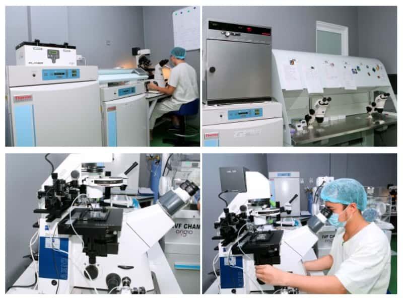 Quy trình làm IVF tại bệnh viện Nam Học được thực hiện với thiết bị hiện đại