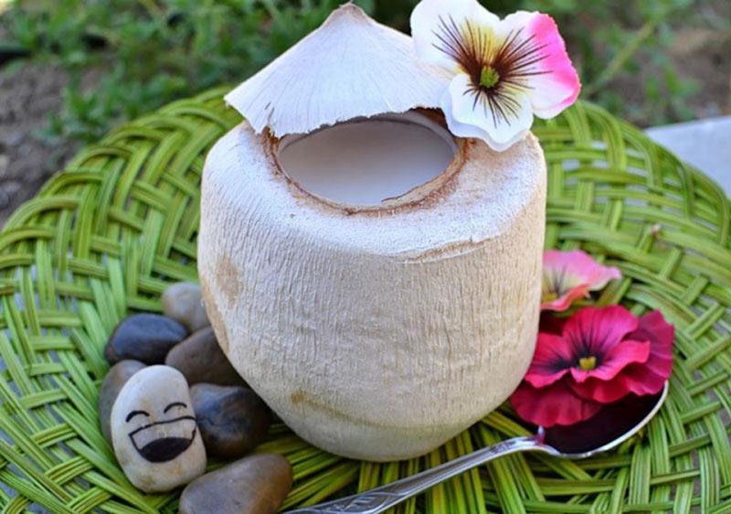 Thạch dừa thơm ngon cho mẹ bầu