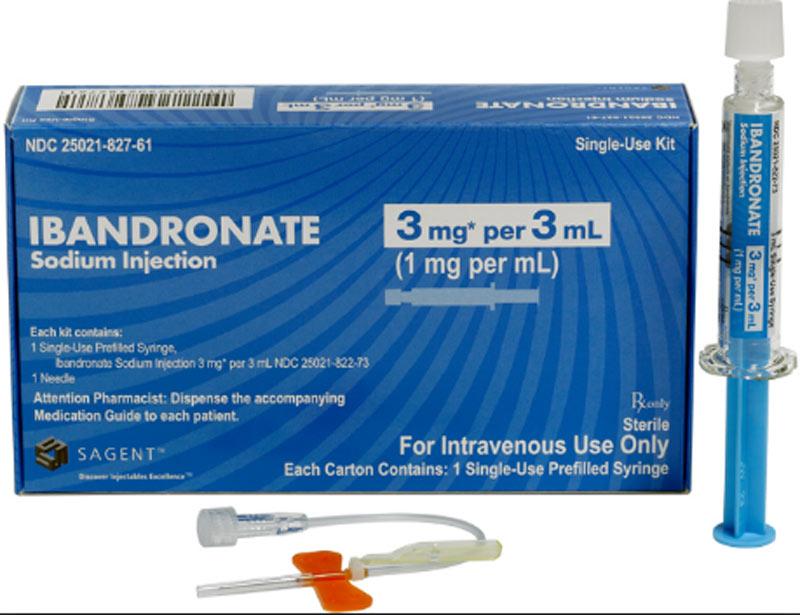 Thuốc Ibandronate cũng có dạng dung dịch để tiêm tĩnh mạch
