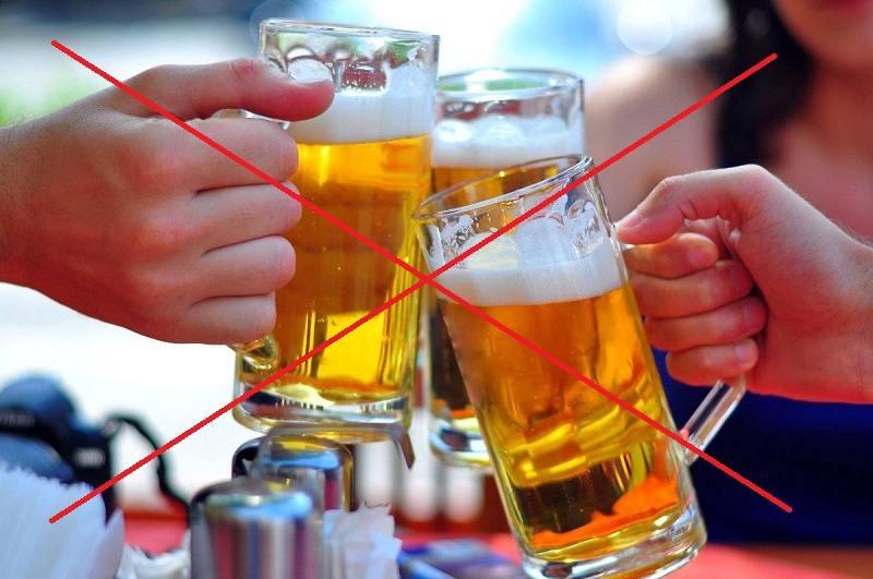 Tuyệt đối không uống bia rượu trong khi đang sử dụng thuốc