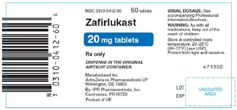 Zafirlukast giúp điều trị các triệu chứng của hen suyễn