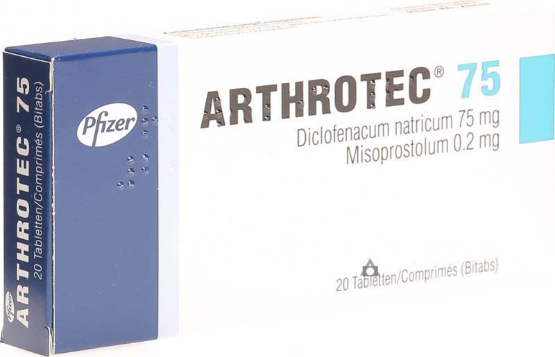 Thuốc chữa gai cột sống lưng Arthrotec