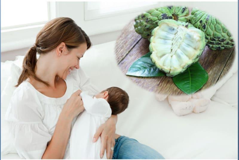 Mẹ sau sinh không nên ăn na xanh
