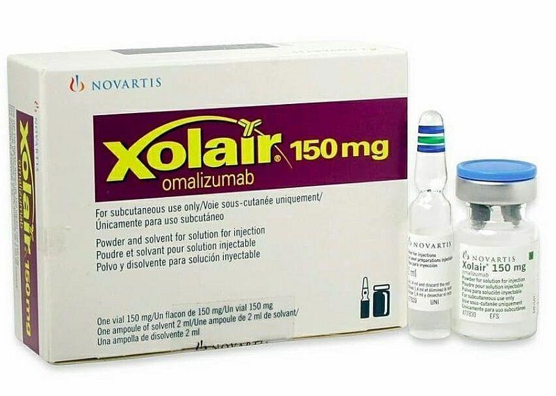 omalizumab là thuốc tiêm, được sử dụng để chữa mề đay mãn tính khó điều trị