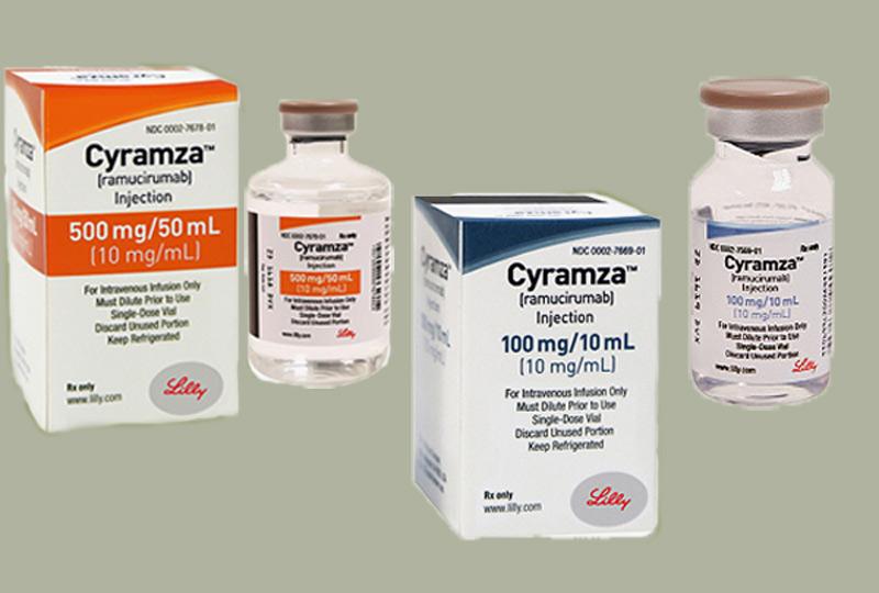 Thuốc Ramucirumab sử dụng cho bệnh nhân ung thư dạ dày, ung thư phổi