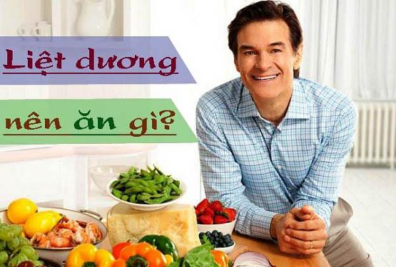 Liệt dương nên ăn gì?