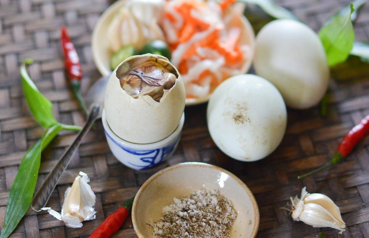 Trứng vịt lộn giàu dinh dưỡng cho sức khỏe