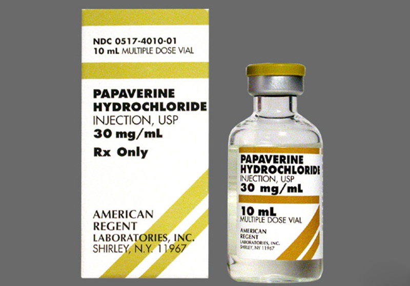 Papaverine tương tác với nhiều loại thuốc