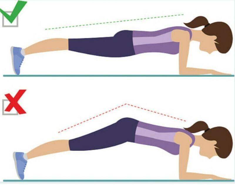 Bài tập Plank sau sinh