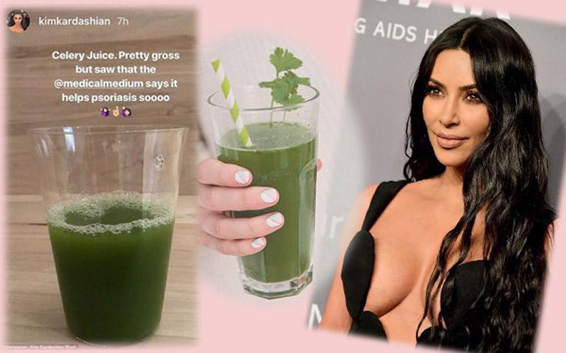 """Kim """"siêu vòng ba"""" uống nước ép loại thảo dược này hàng ngày để chữa bệnh vảy nến"""
