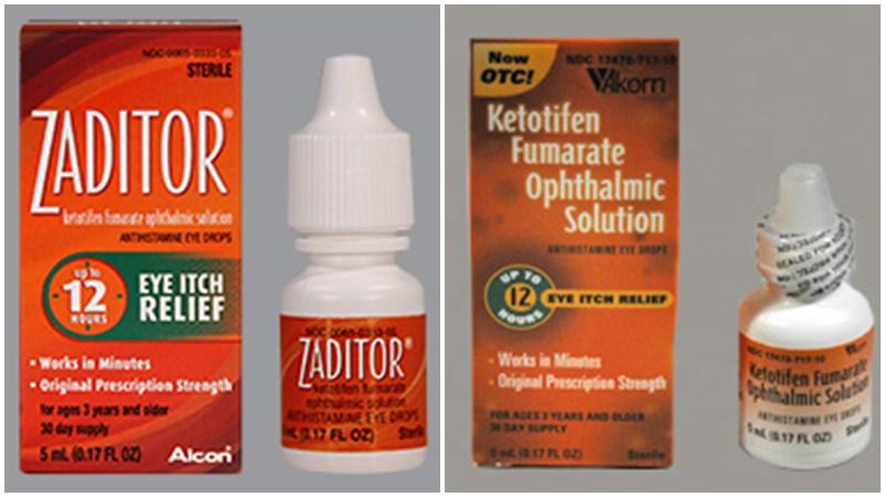 Thuốc Ketotifen điều trị bệnh viêm kết mạc dị ứng