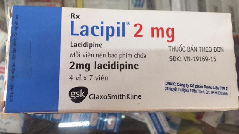 Thuốc Lacidipine dùng cho bệnh nhân bị huyết áp cao