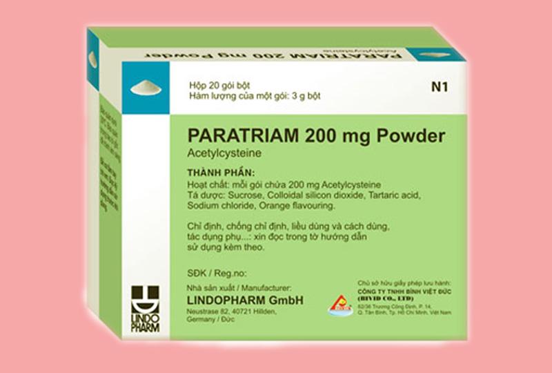 Thuốc Paratriam dành cho bệnh nhân bị xơ nang tuyến tụy