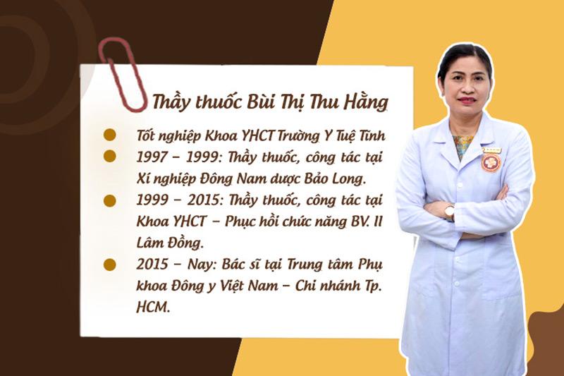Thầy thuốc Bùi Thị Thu Hằng hơn 20 năm hoạt động trong lĩnh vực YHCT