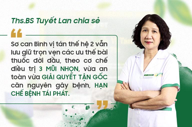 THS.BS Tuyết Lan đưa ra nhận định về bài thuốc