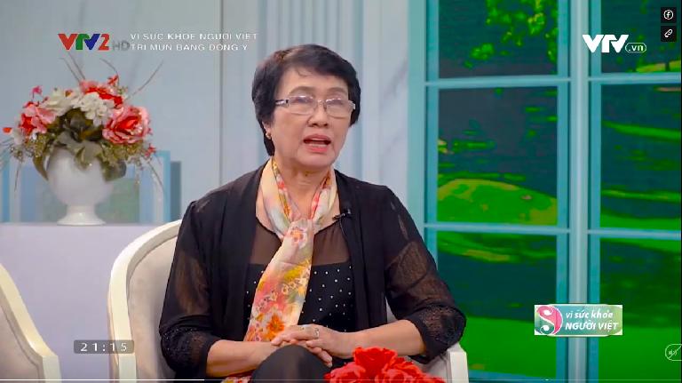 Bác sĩ Nguyễn Thị Nhuần chia sẻ kiến thức về mụn và phương pháp điều trị trên VTV2