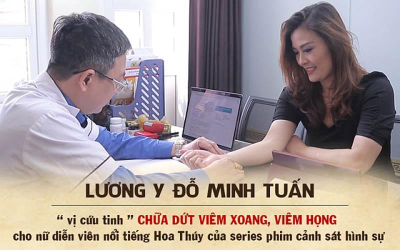 Lương y Đỗ Minh Tuấn chữa khỏi viêm xoang, viêm họng cho diễn viên Hoa Thúy