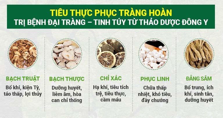 Thành phần thảo dược đặc trị bệnh đại tràng theo Đông y truyền thống