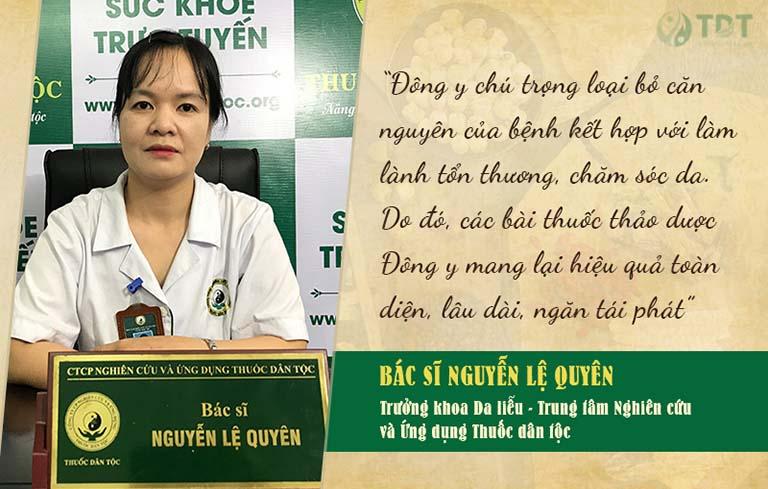 Bác sĩ Lệ Quyên chia sẻ về phương pháp chữa mề đay