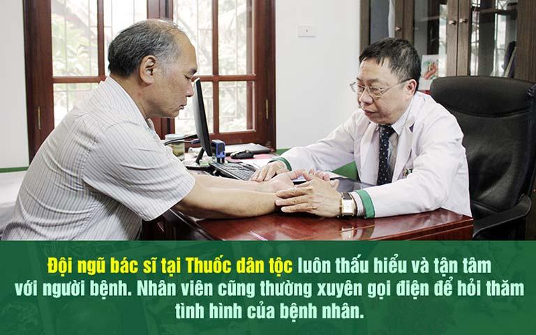 Người bệnh hoàn toàn yên tâm về đội ngũ chuyên gia tại Thuốc dân tộc